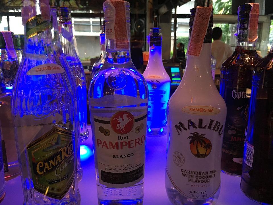 Bar, Hotel Bar, Malibu, Bottles, Beverages, Alcohol