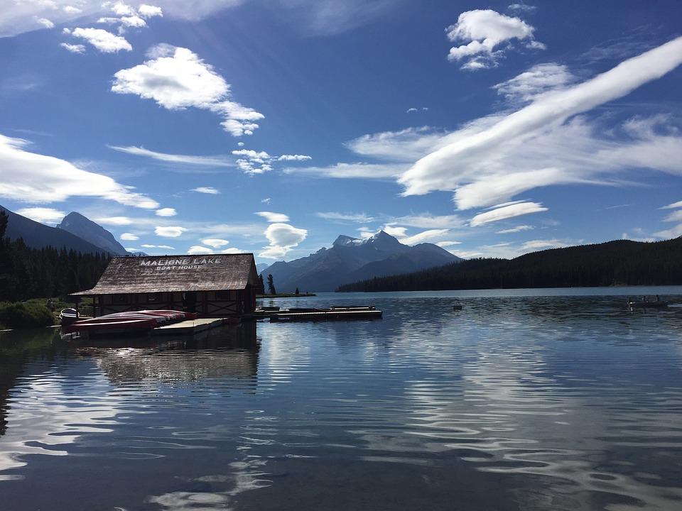 Maligne Lake, Canada, Lake, Jasper, National, Alberta