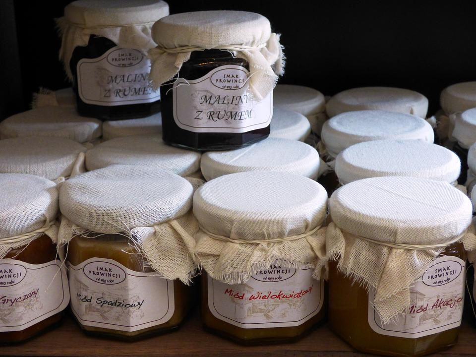 Preparations, Jars, Malina, Honey, Homemade