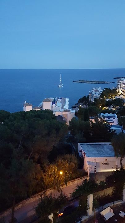Mallorca, Dusk, Boat, Yacht