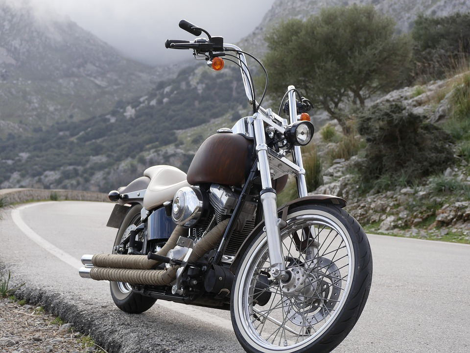 Harley Davidson, Chopper, Mallorca Chopper, Mountains