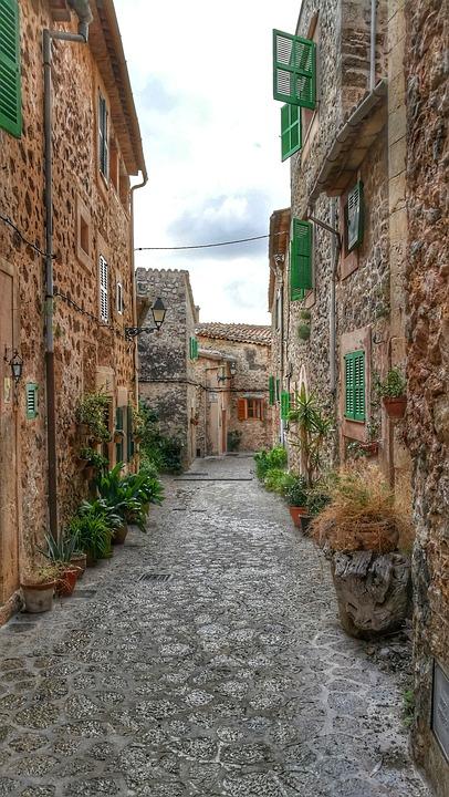 Valldemossa, Mallorca, Facade, Spain, Wall, Idyllic