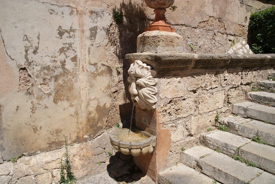 Mallorca, Palma, Stairs, Water Dispenser, Canary Island
