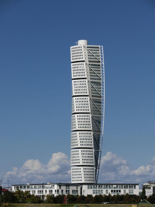 Malmo, Turning Torso, Skyscraper, Malmö, Building