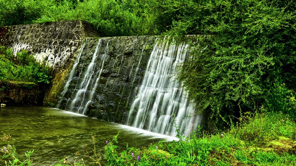 Poland, Malopolska, łukowica, Nature, River, Waterfall
