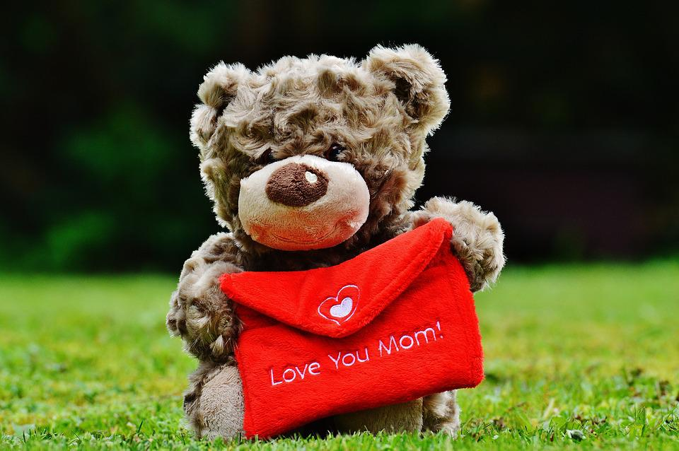 Teddy, Mother's Day, Love, Mama, Greeting Card, Mother