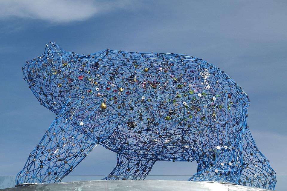 Art, Bear, Grid, Animal, Mammal, Kelowna