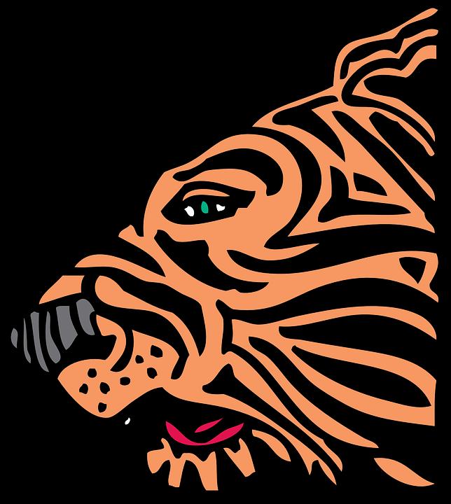 Tiger, Face, Head, Animal, Side Profile, Mammal