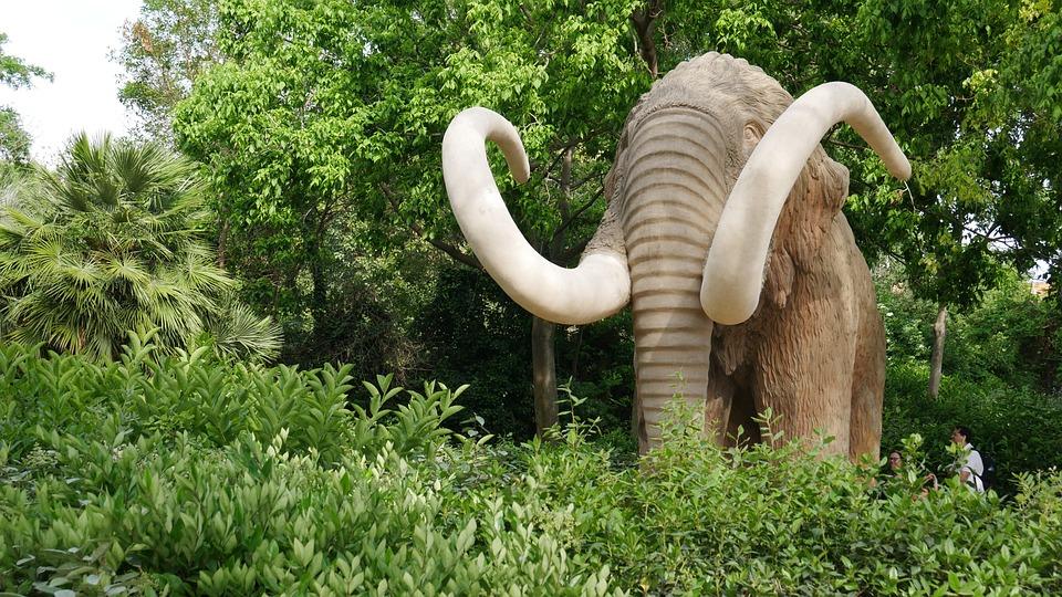Mammoth, Elephant, Green, Animal, Mammal, Prehistoric