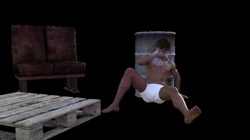 Man, Art, 3d Character, Chair