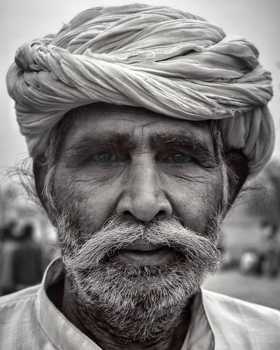 Portrait, People, Adult, Veil, Man, Facial Hair, Wear