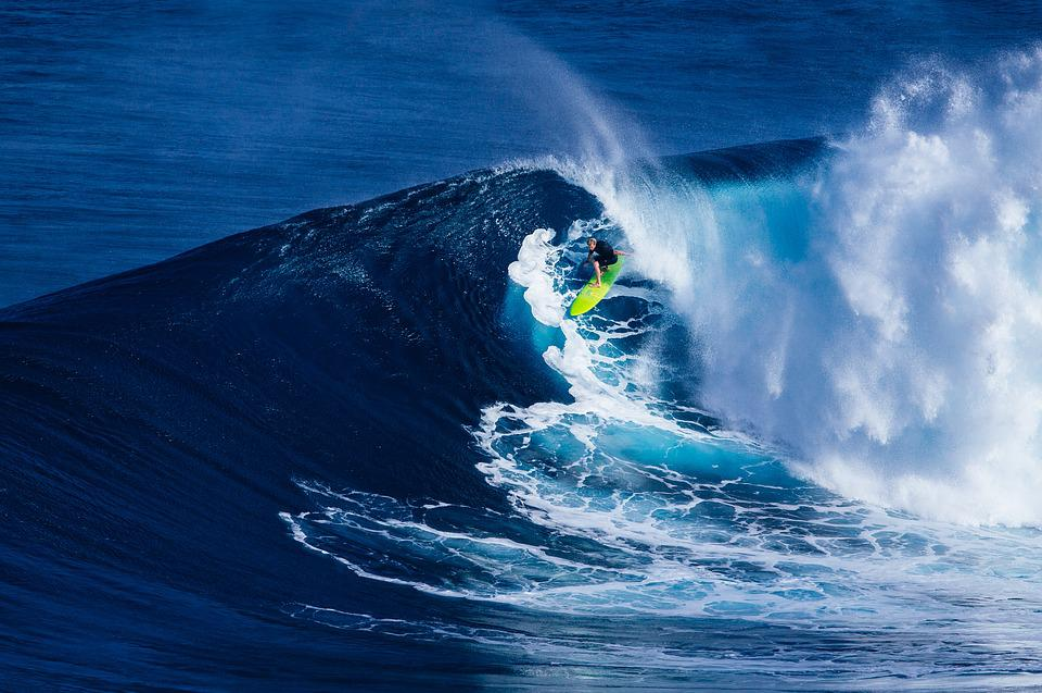 Beach, Surfing, Wave, Man, Ocean, Person, Sea, Surf