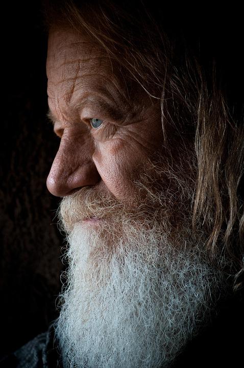 Beard, Close-up, Elderly, Face, Hair, Male, Man
