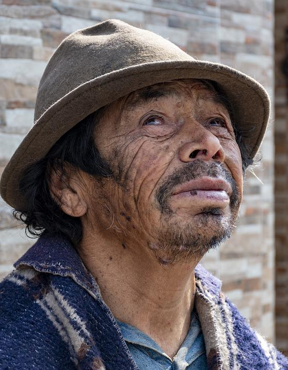Indigenous, Ecuadorian, Beggar, People, Natural, Man