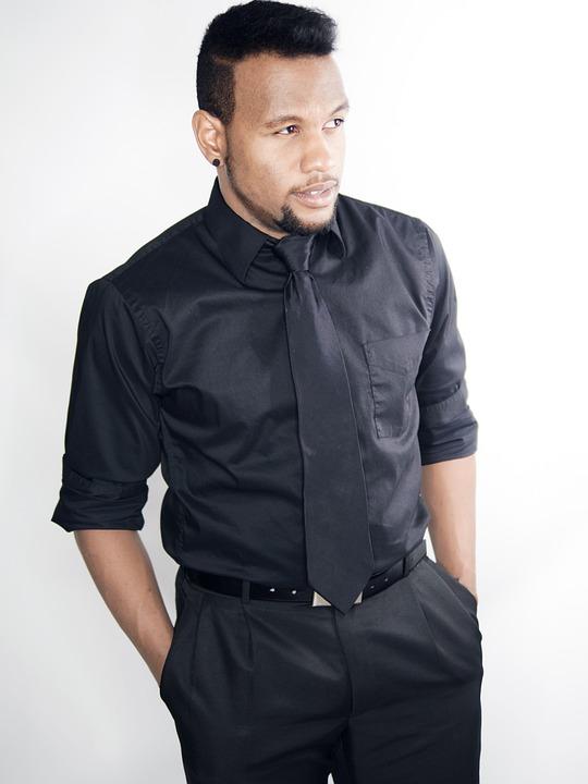 Business, Man, Tie, Black Suit, Black Hair, Standing