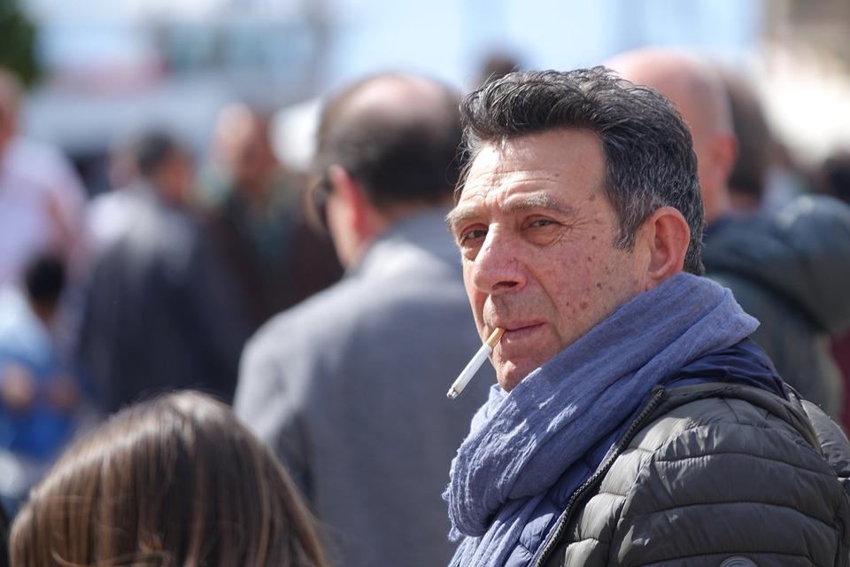 Migrant, Man, Suspect, Cigarette, Look, Decided