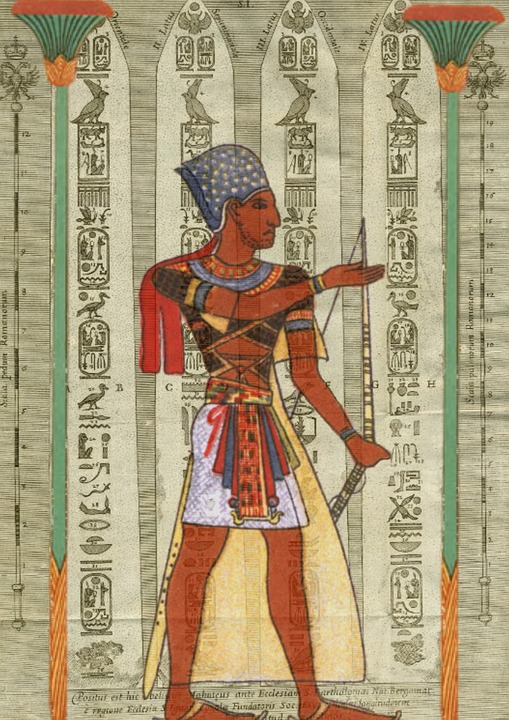 Egyptian, Design, Man, Royal, Ancient Egypt, Collage