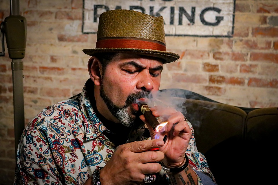 People, Man, Adult, Portrait, Cigar, Smoke, Cuban