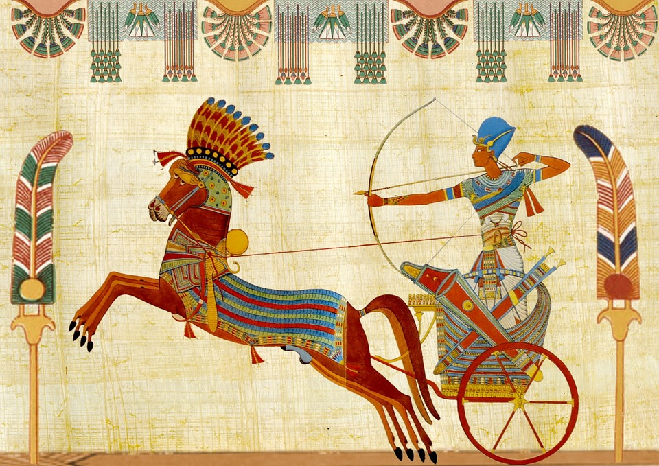 Egyptian, Tutunkhamun, Pharaoh, Design, Man, Chariot