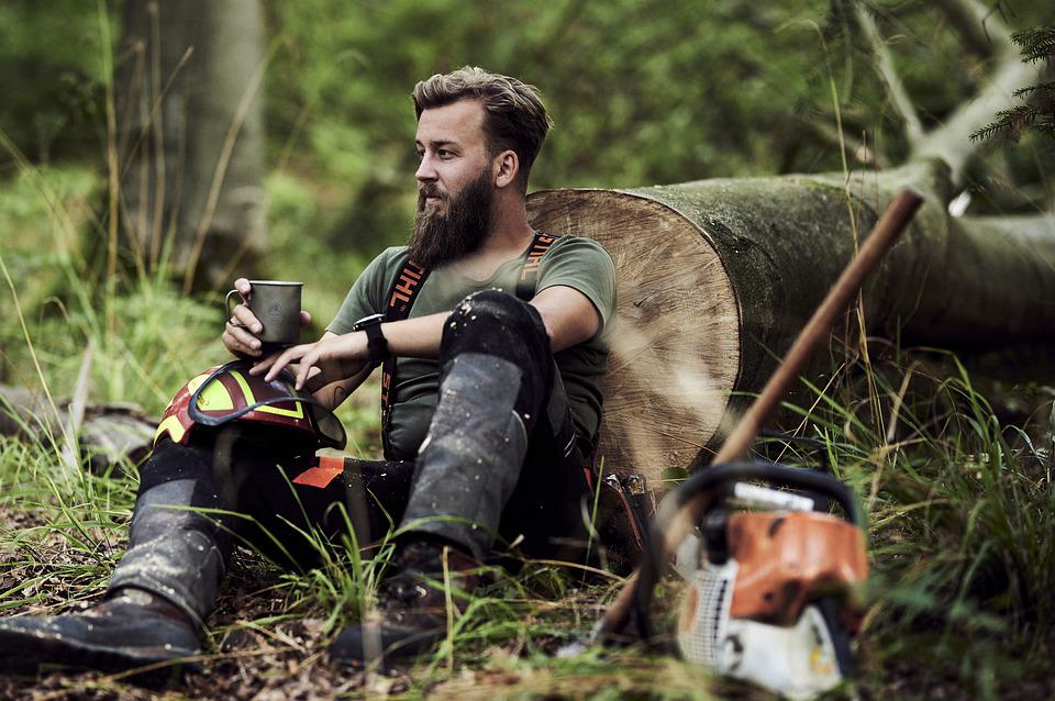 Forest, Man, Sitting, Nature, People, Outdoors, Face