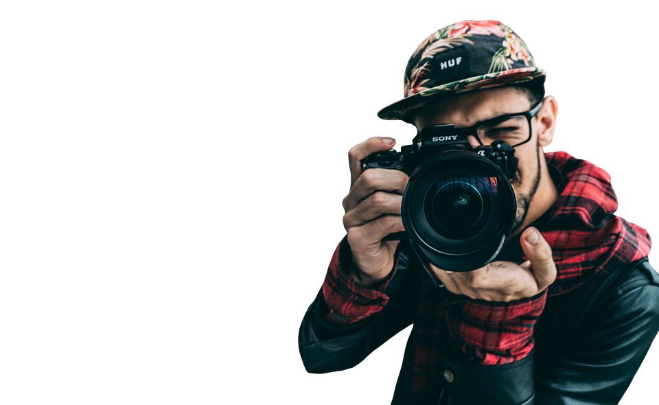 Guy, Camera, Click, Picture, Man, Young, Looking