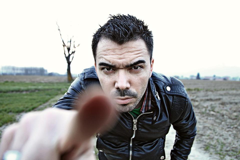 Man, Pointing, Finger, Boy, Face, Hand, Portrait