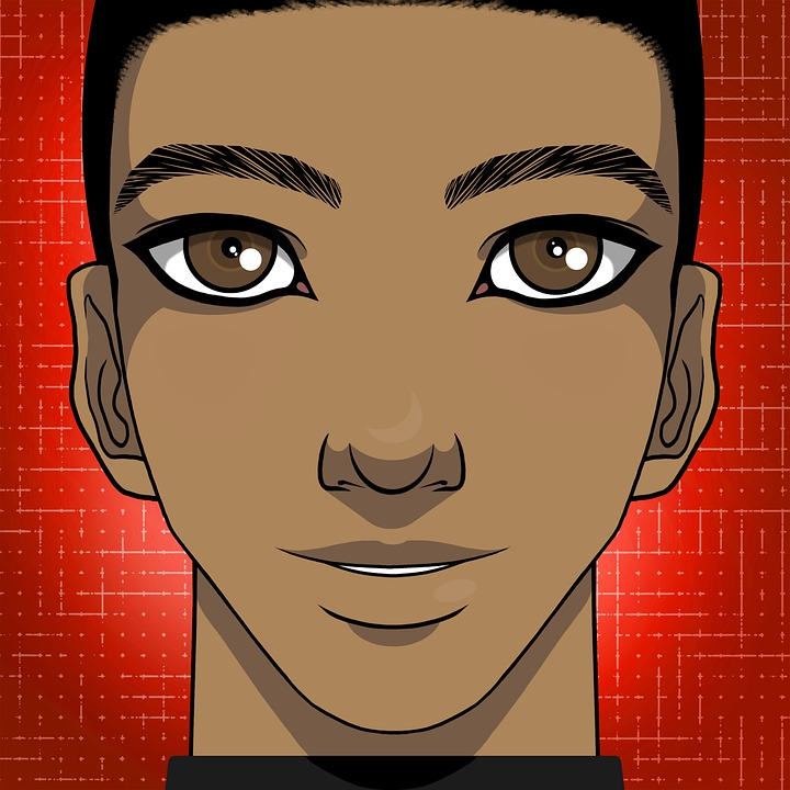 Man, Smile, Handsome, Short Hair, Black Hair
