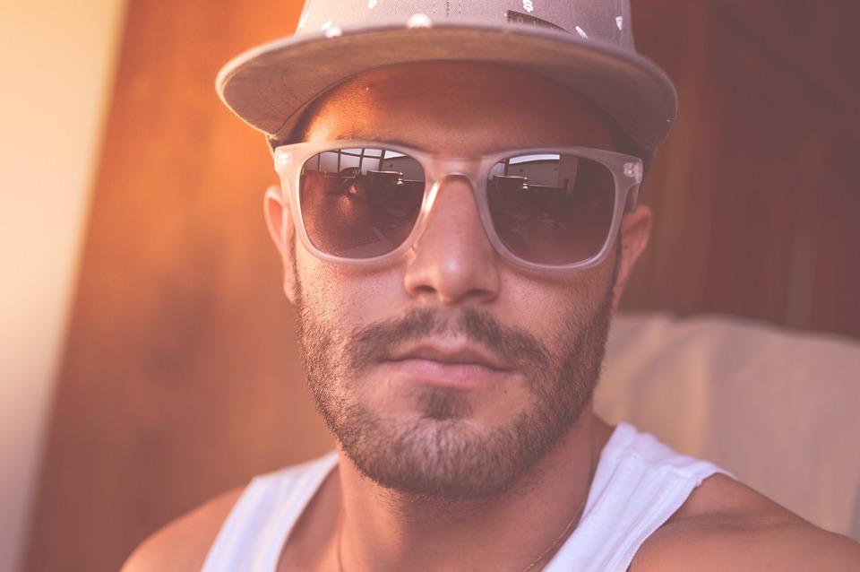Man, Person, Sunglasses, Hat, Face, Portrait, Selfie
