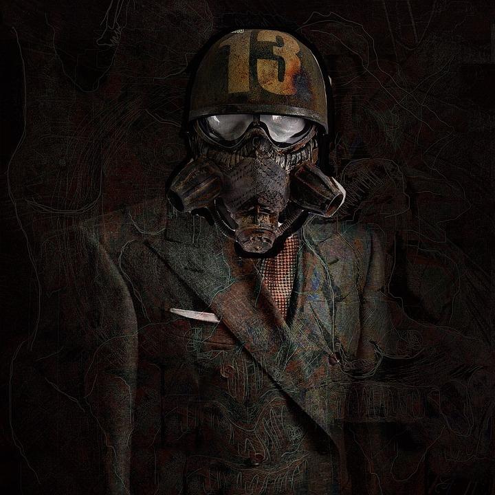 Suit, Helm, Man