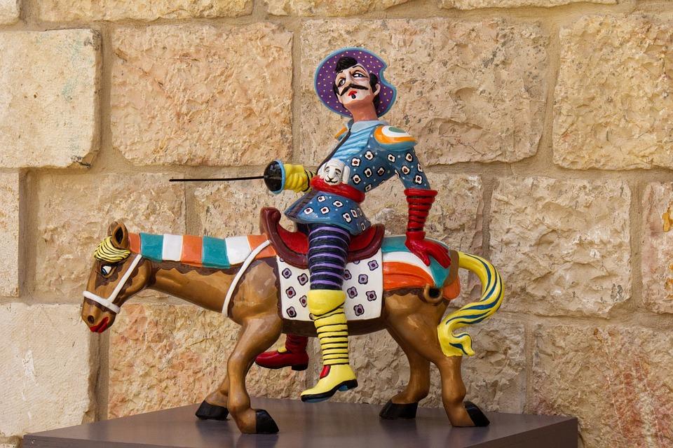 Art, Fun, Man, Riding, Horse, Sculpture