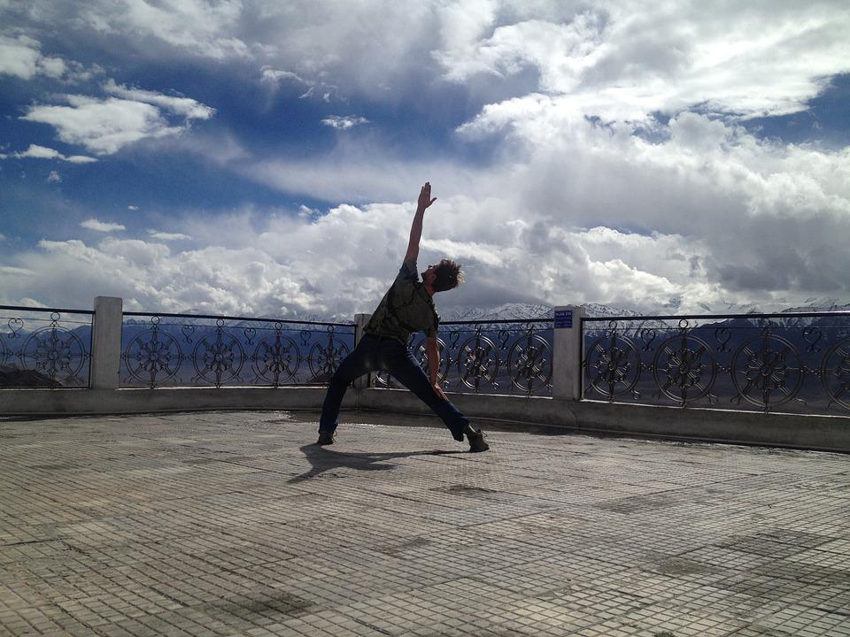 Yoga, Man, India, Sky, Peace, Pose, Meditation