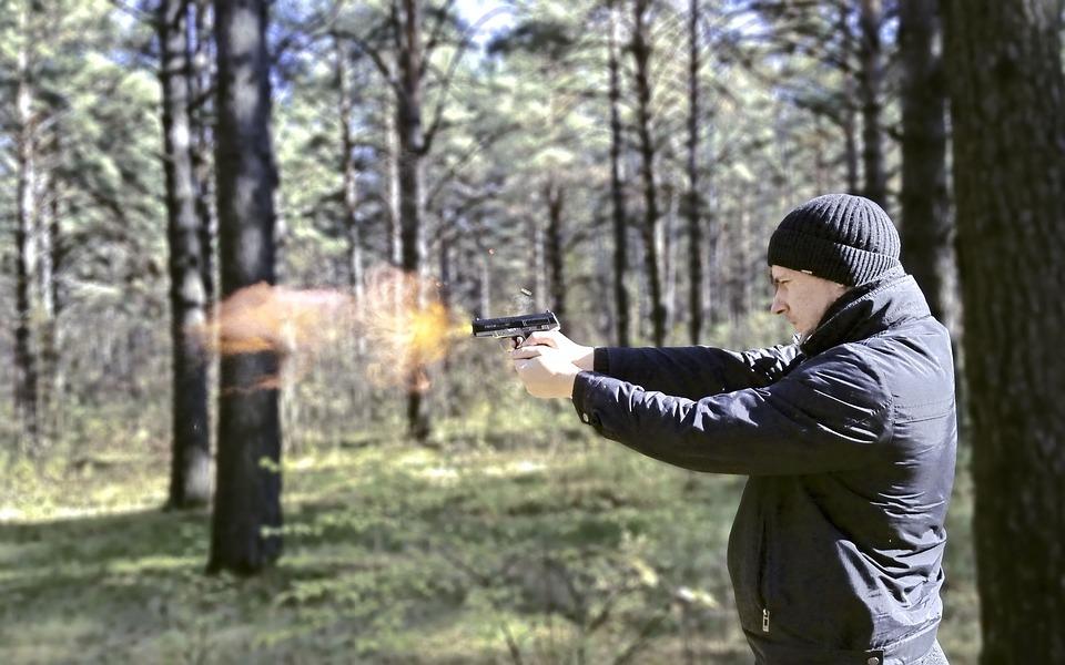 Man, Shooting, Shoots, Killer, Sleeve, Bullet, Fire