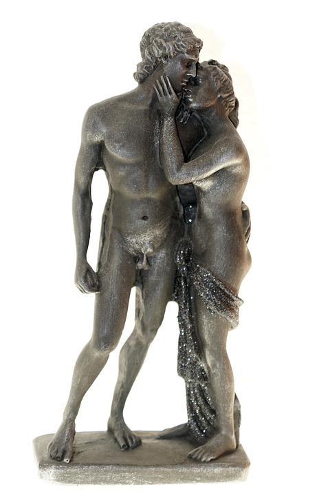 Lovers, Man, Woman, Caress, Tenderness, Love, Statue