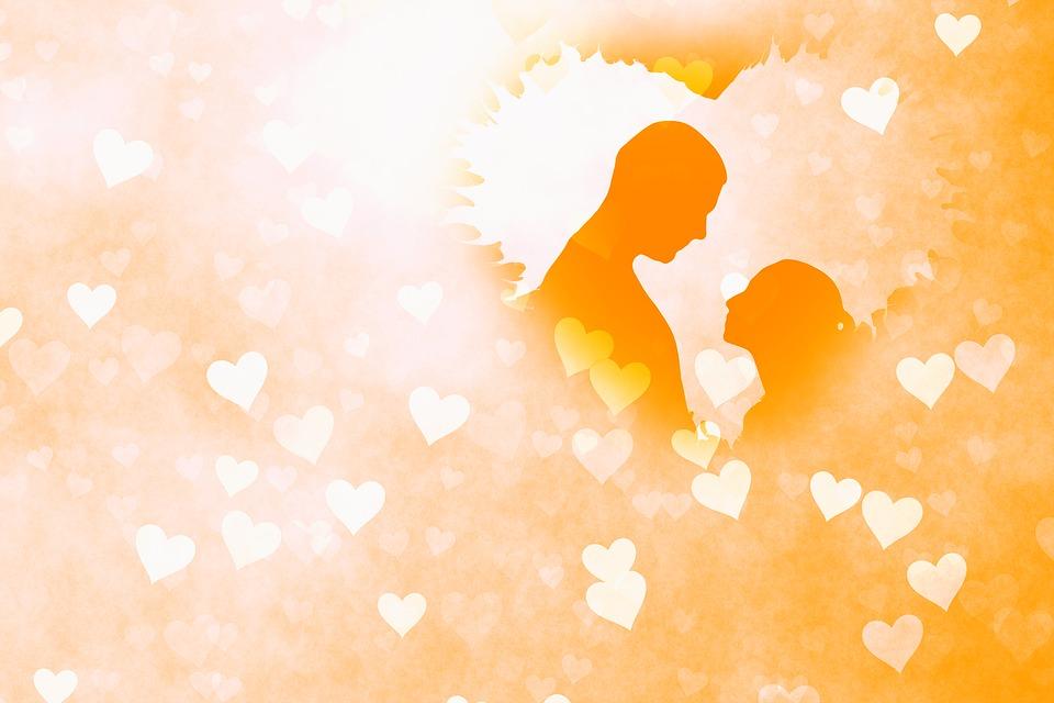 Heart, Love, Flame, Lovers, Man, Woman, Silhouette