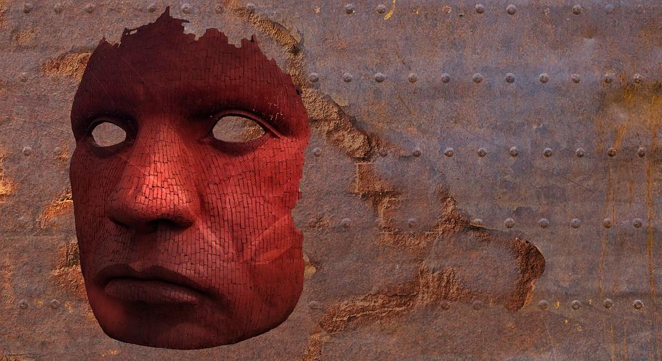 Mask, Creepy, Weird, Man, Background, Texture