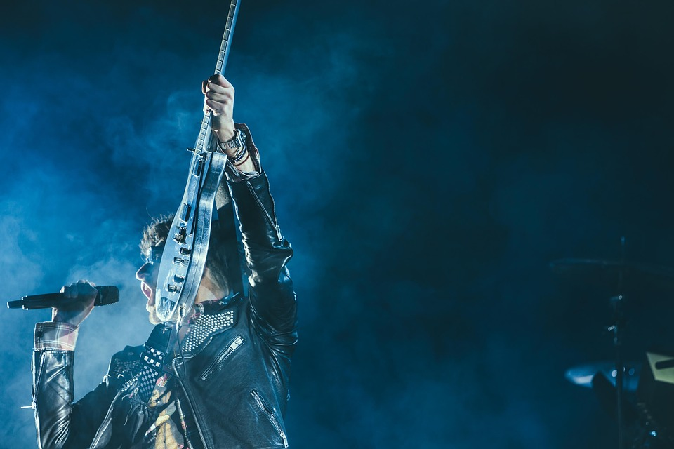 People, Man, Concert, Mike, Electric, Guitar, Band