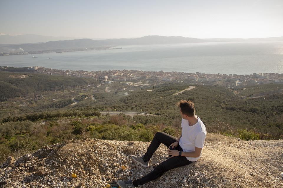 Landscape, Human, Marine, Mountain, Nature, Man, Sky