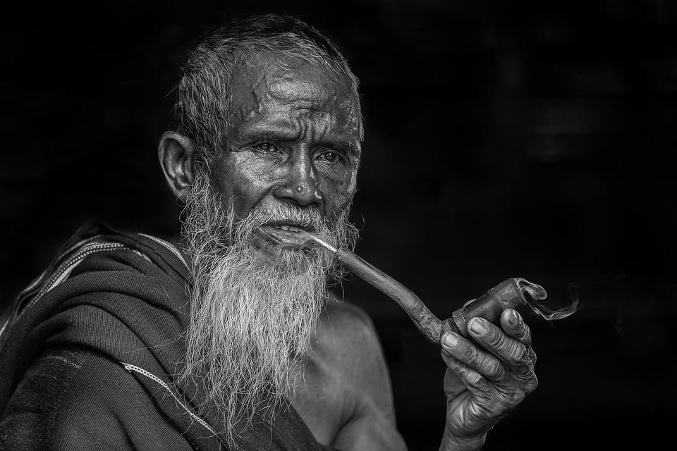Portrait, Smoking, Old People, Man, Pipe Smoking, Beard