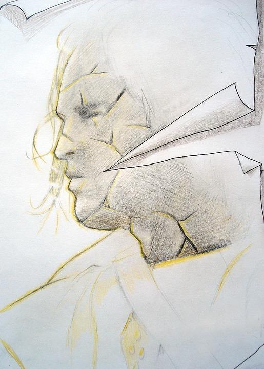 Painting, Drawing, Man