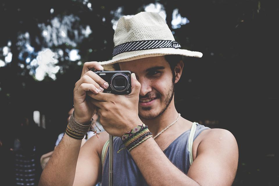 Camera, Hat, Man, Person, Photographer, Taking Photo