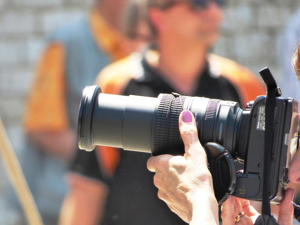 Photographer, Camera, Man, Photos, Reporter, Lens