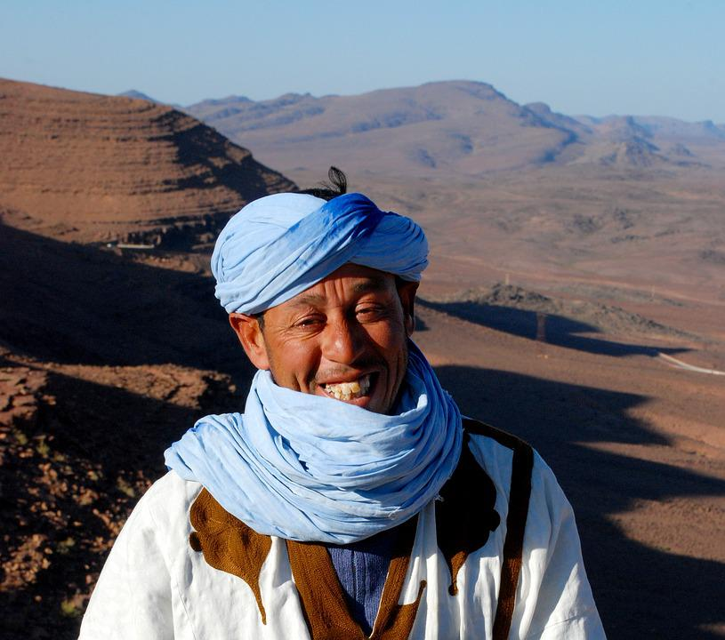 Portrait, Morocco, Man, Sahara, Face, Travel, Local