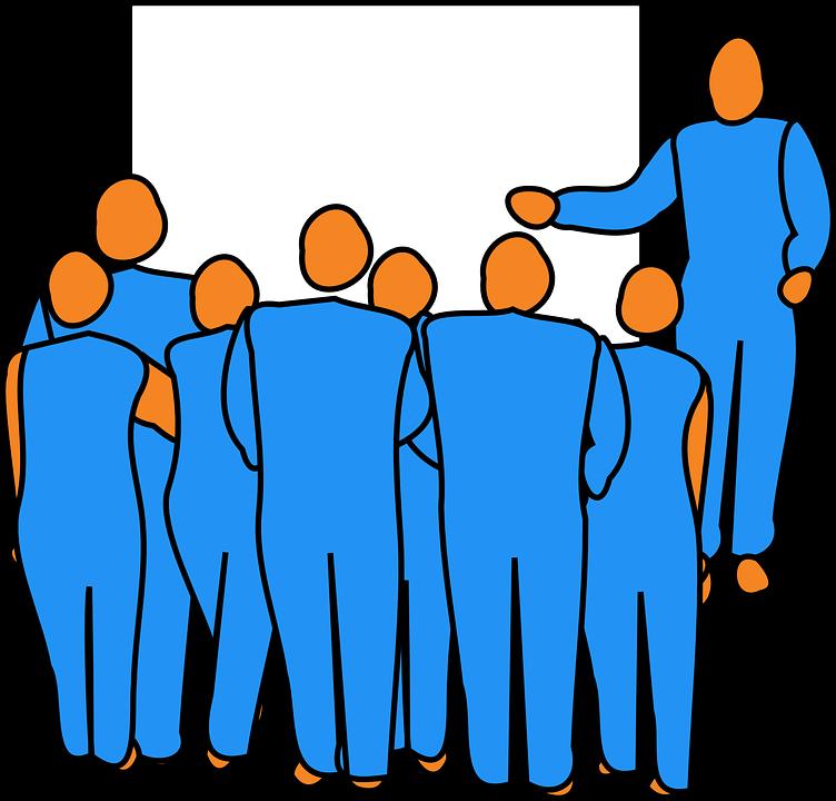 Man, Group, Audience, Pointing, Presentation, Presenter