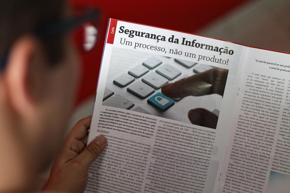 Reading, Man Reading, Magazine, Information Security