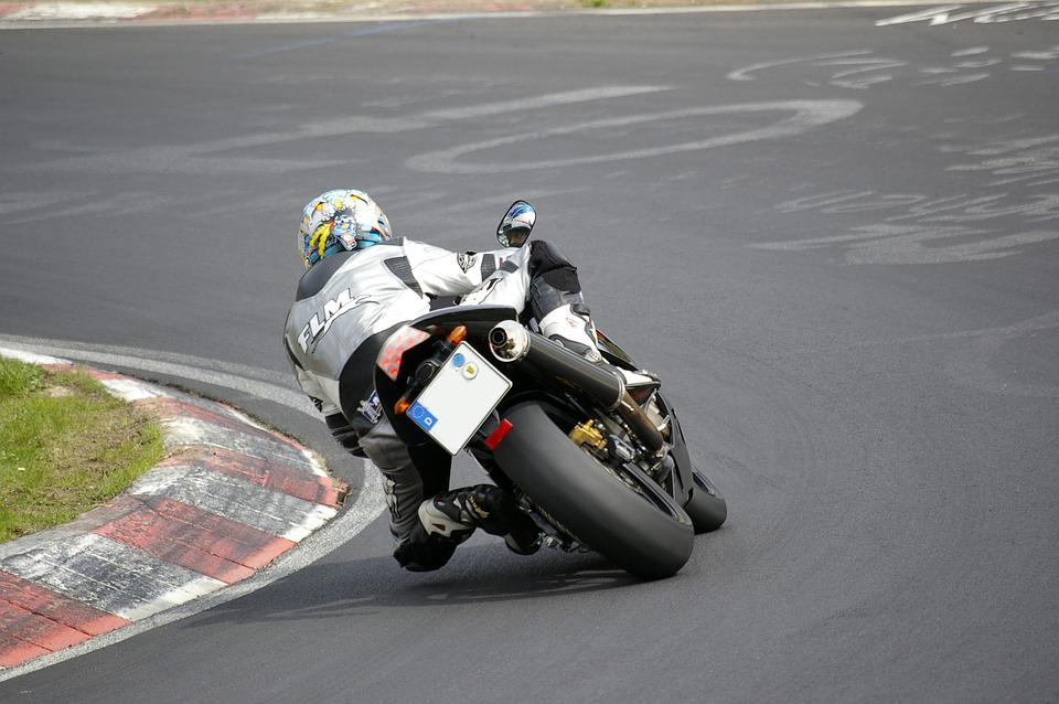 Motorcycle, Rear, Nordschleife, Angle, Man
