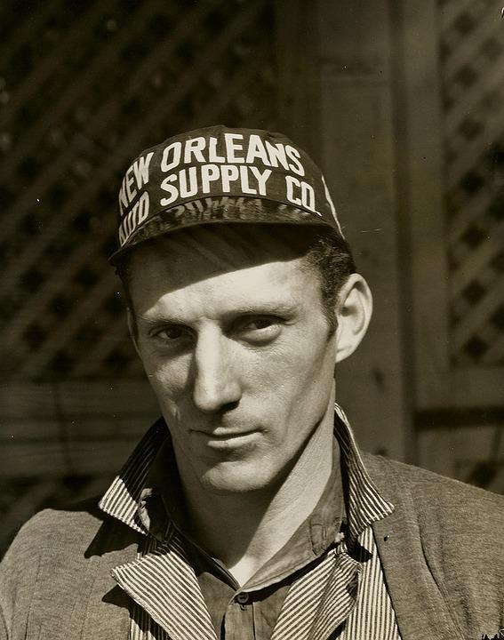 Man, Mechanic, Hat, Repairman, Vintage, Retro, Photo