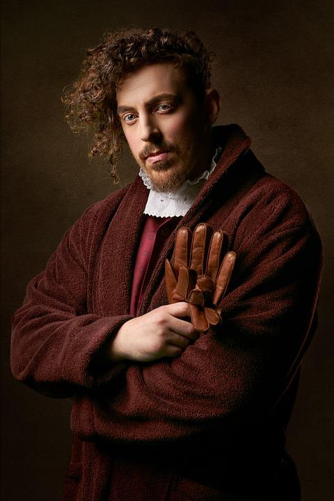 Man, Retro, Vintage, Portrait, Gloves