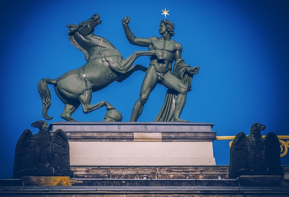 Sculpture, Male Statue, Horse, Bronze, Artwork, Man