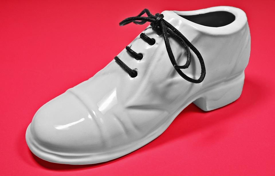 Shoe, White Shoe, Man Shoe, Ceramic Shoe, Ceramic