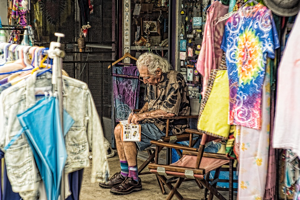 Man, Cloth, Sitting, Shop, Outdoor, Natural Light